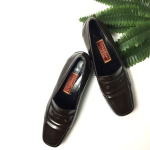 Vintage 📍 Cole Haan Brown Patent Leather Loafers